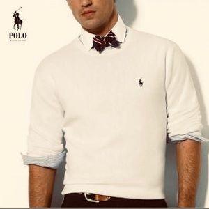 Ralph Lauren Off White Cream Crewneck Sweater